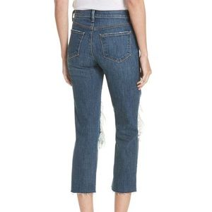 L'AGENCE Jeans - L'AGENCE Jordan Ripped Crop Bootcut Jeans